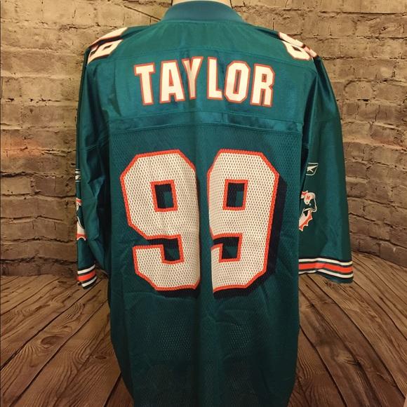 Men s XL Miami Dolphins Reebok Jersey  99 Taylor d834c3a58